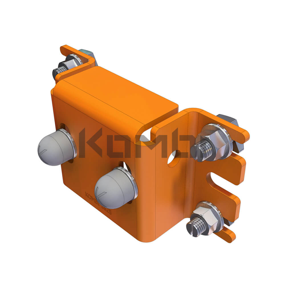 Image of Kombi Top Support Bracket KB021 for connection of Kombi 80 post to platform - click to download
