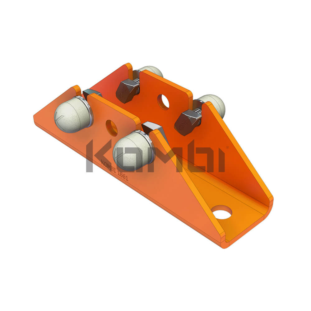 Image of KB026 Kombi Base Support Bracket for connection of Kombi 80 post to platform - click to download