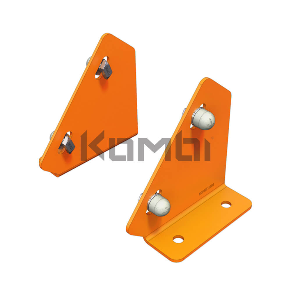 Kombi KB034 Stair Bridge Mounting Plate for connection of stair stringer to platform - click to download