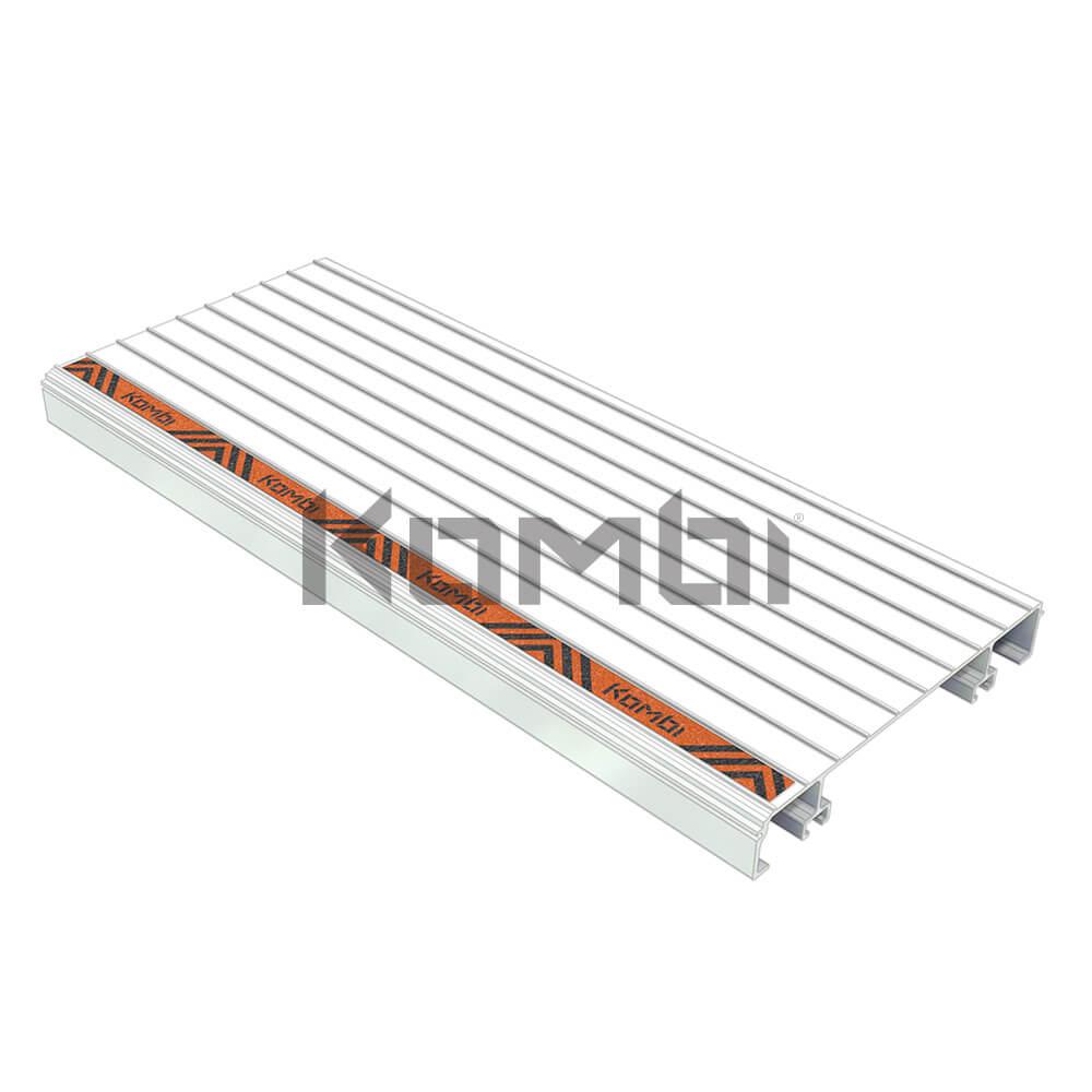 Image of Kombi KB010 Aluminium Stair Tread for modular stair system - click to download
