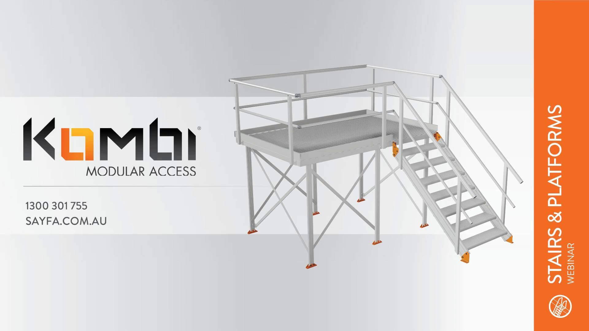 Kombi Stair & Platform Webinar 1 - Introduction to Kombi - click to view