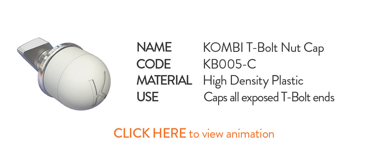 Kombi KB005-C Kombi T-Bolt Nut Cap - click to view animation