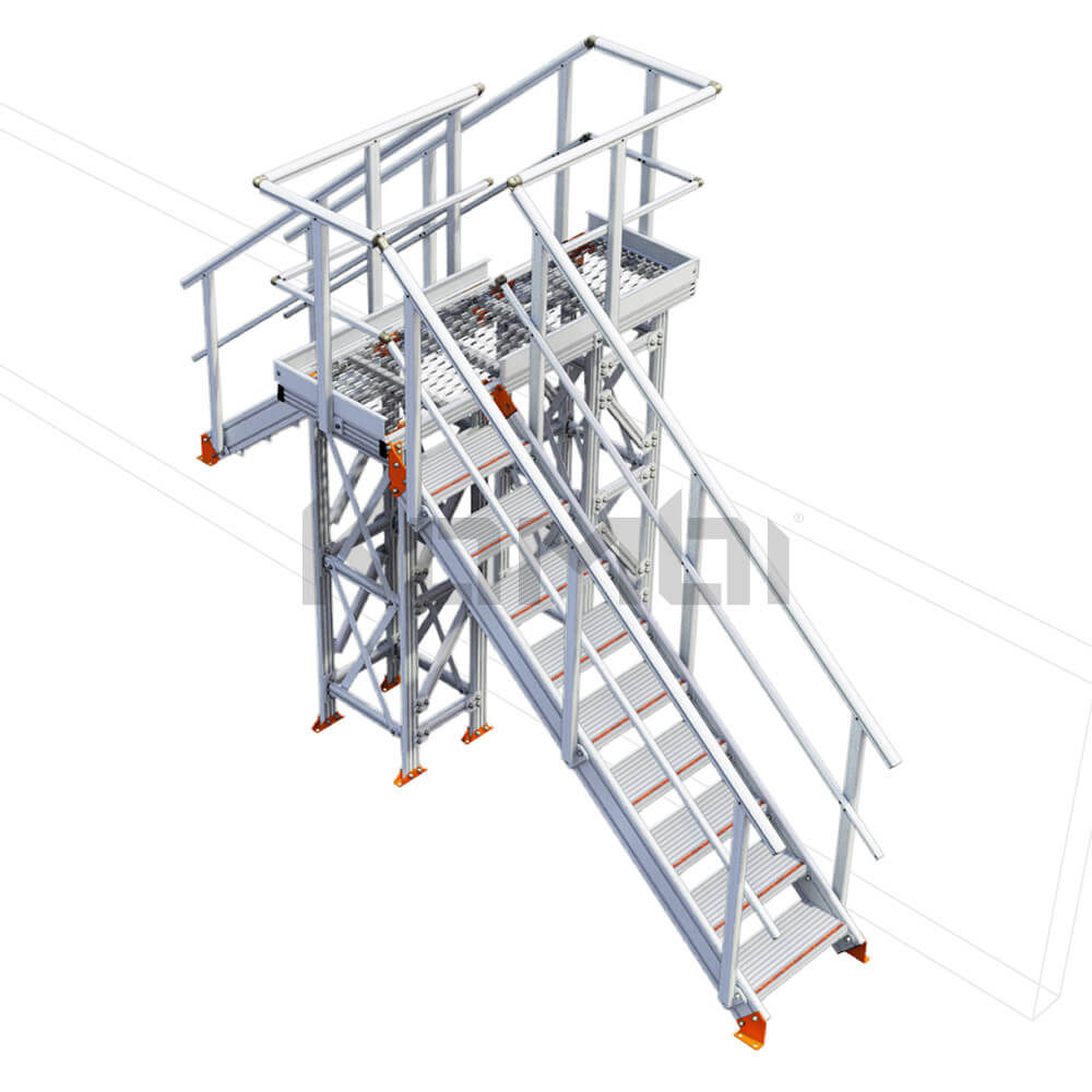 Image of Kombi KS100L stair bridge / crossover, left exit - click to download