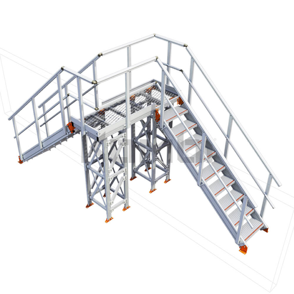Image of Kombi KS100R stair bridge / crossover, right exit - click to download