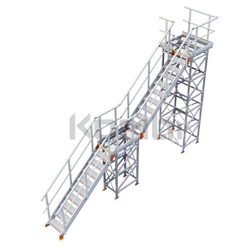 Image of Kombi KS40L stair and platform, inline, 2 stage, left exit - click to download