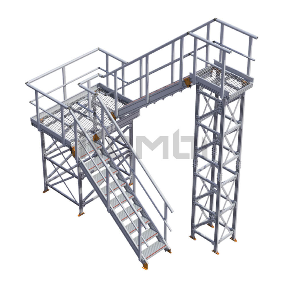 Image of Kombi KS60 stair and platform, U-shape, 2 stage - click to download
