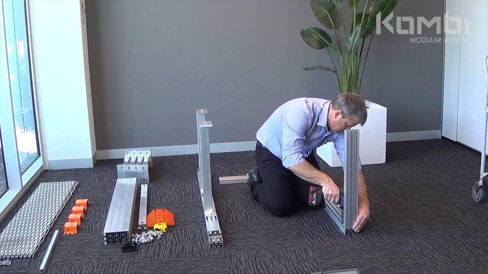 Kombi Stair & Platform Webinar 2 - Assembling the post supports & platform - click to view video