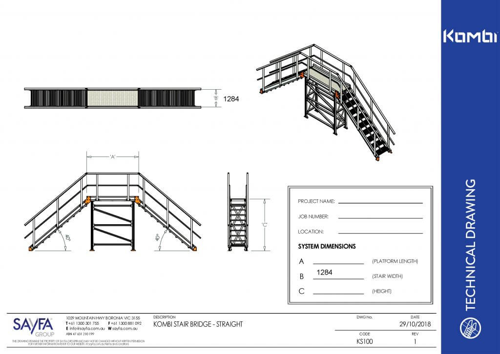 Kombi modular stair bridge interactive pdf