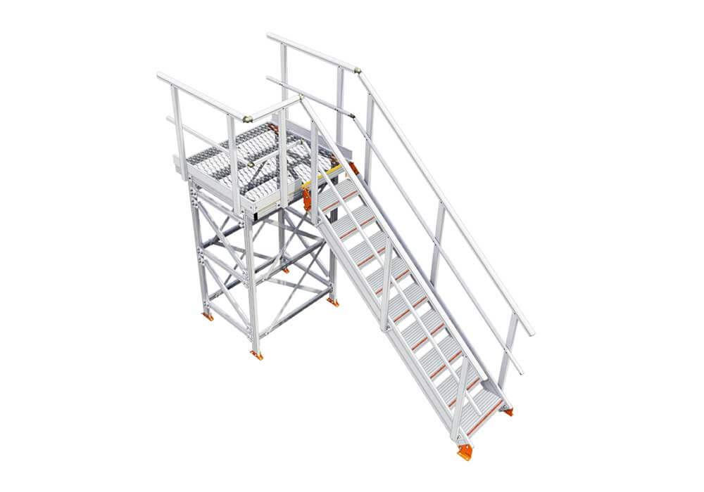 KS70 Kombi Stair & Platform, supported