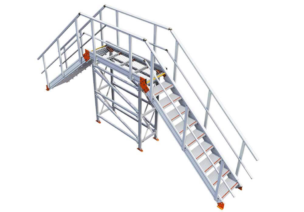 Click on image to view 3D model of KS100 stair bridge, crossover