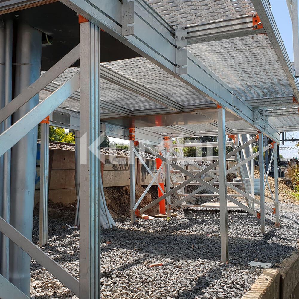 Kombi modular stair and platform systems installed at Metro Trains