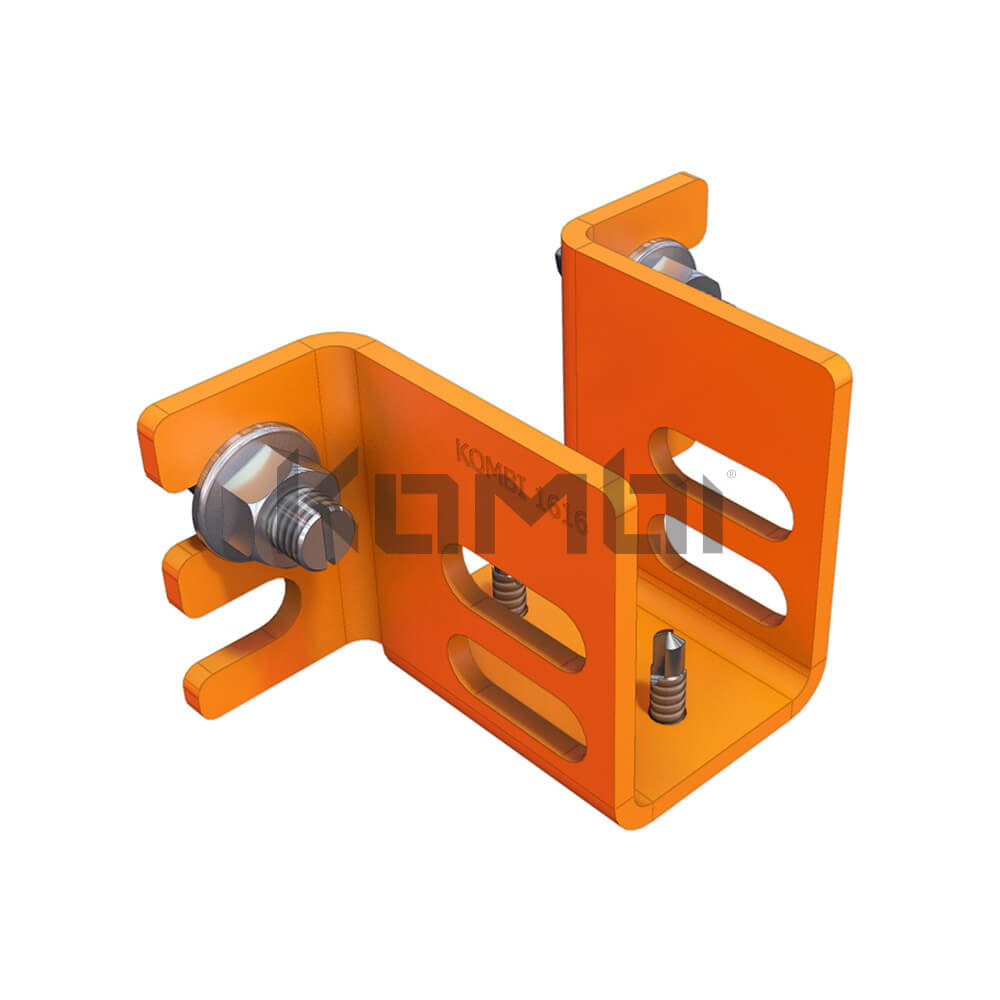 Image of Kombi KB012 Horizontal Support Bracket for fixing platform supports to stringers - click to download