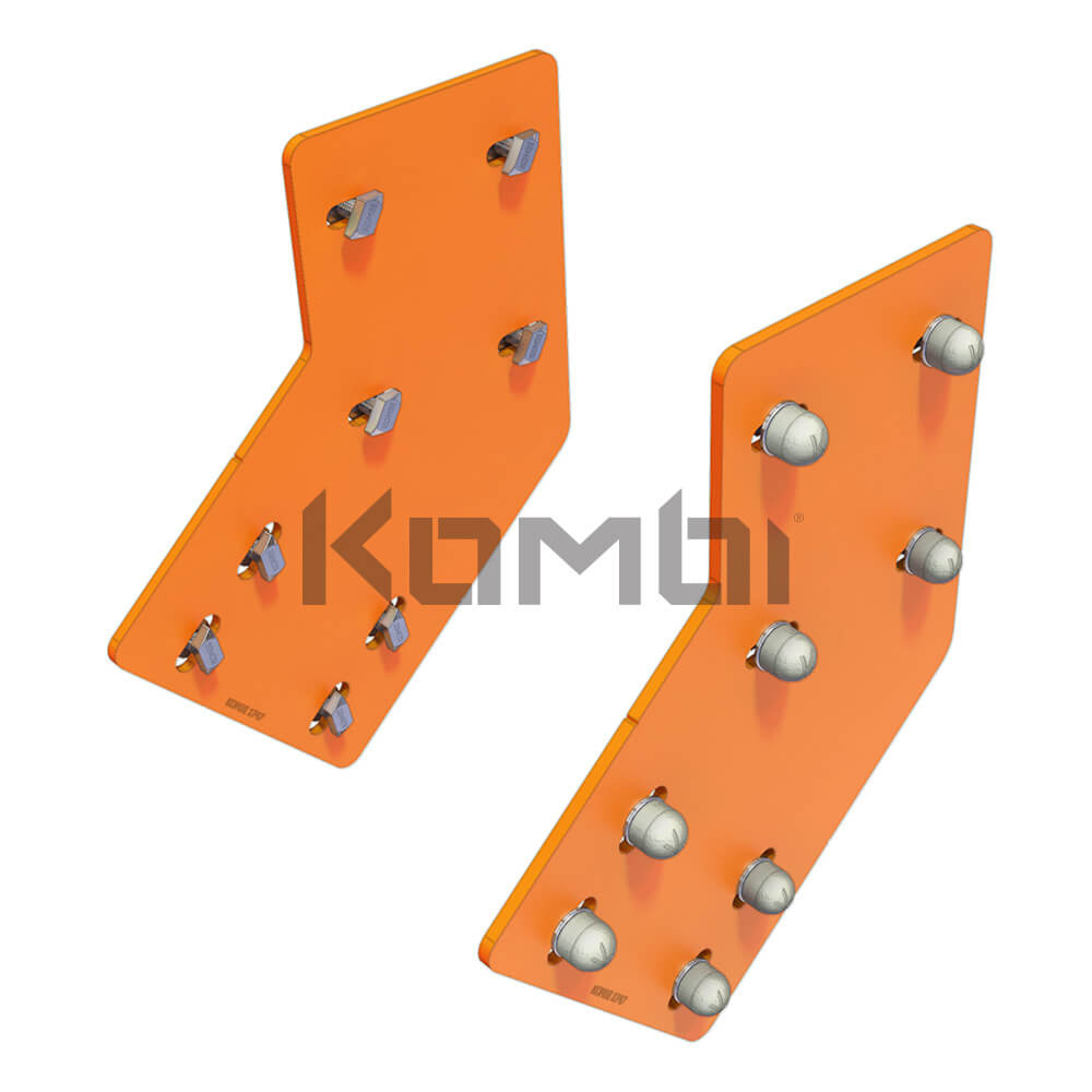 Image of Kombi KB014 Stair Bridge Mounting Plate for connecting stringer to platform - click to download