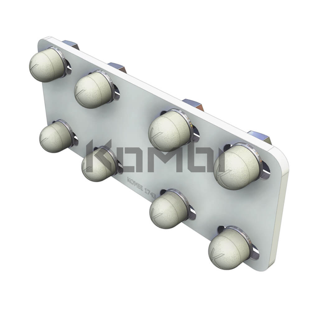 Image of Kombi KB016.80 Post Joining Plate for joining Kombi 80 extrusion - click to download