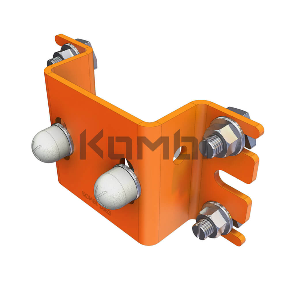 Image of Kombi KB022 Post Through Bracket for connection of Kombi 80 post to platform - click to download