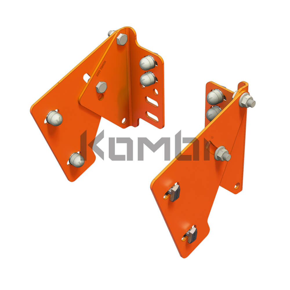 Image of Kombi KB031 Adjustable Stair Bracket for connection of stair stringer to platform - click to download