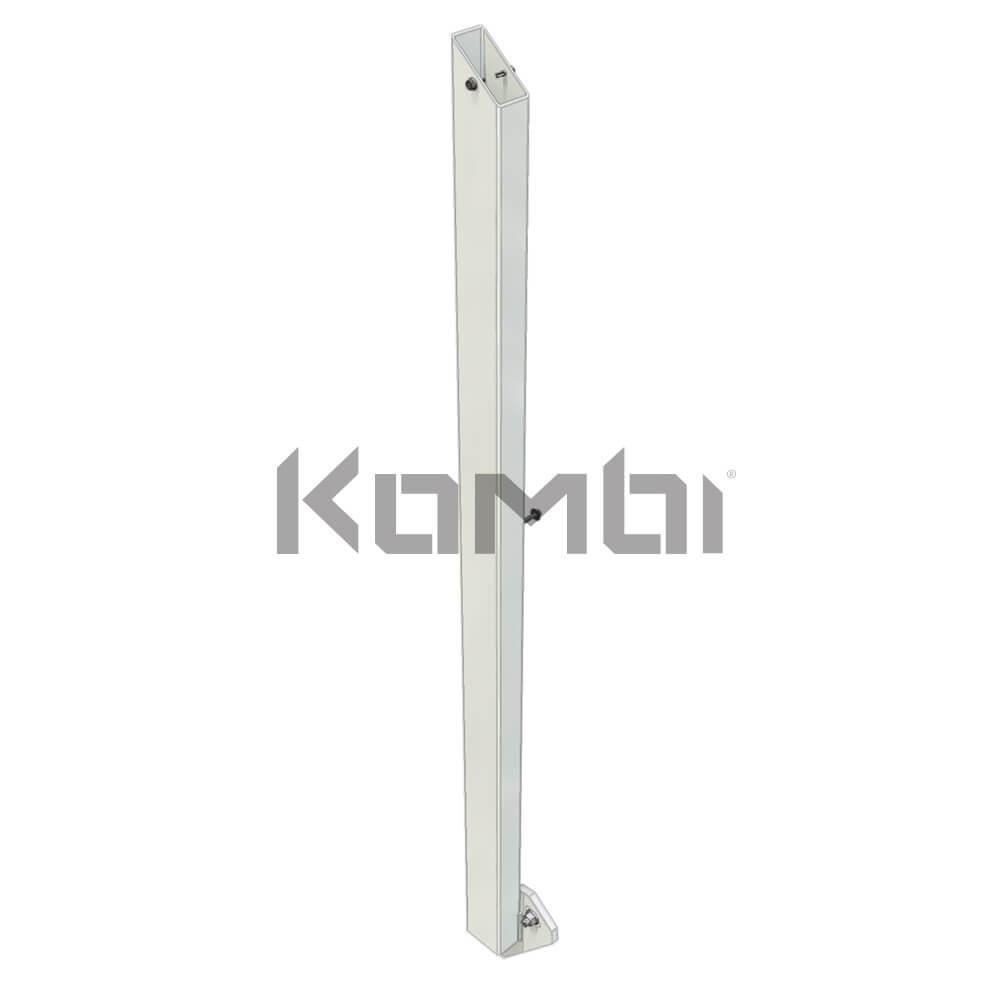 Image of Kombi KB60L Stair Post Kit, Left Hand, post for handrail - click to download