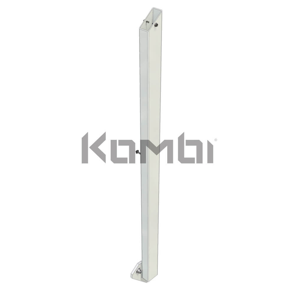 Image of Kombi KB601R Stair Post Kit, Right Hand, post for handrail - click to download