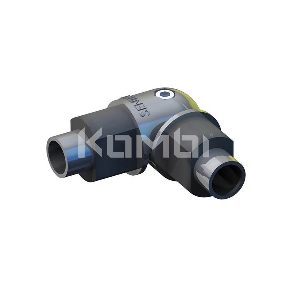 Image of GW383 Kombi Kneerail Elbow for joining kneerail extrusion - click to download