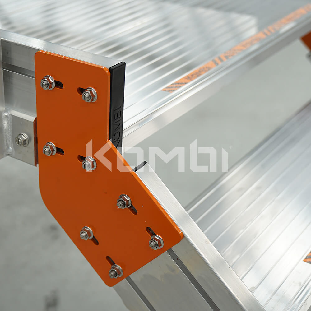 Image showing close up view of Kombi bracket on stair and platform - click to download