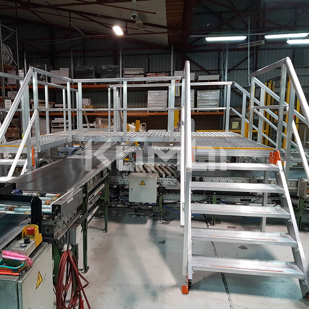 Image of Kombi stairs and elevated walkways showing access over conveyor system - click to download