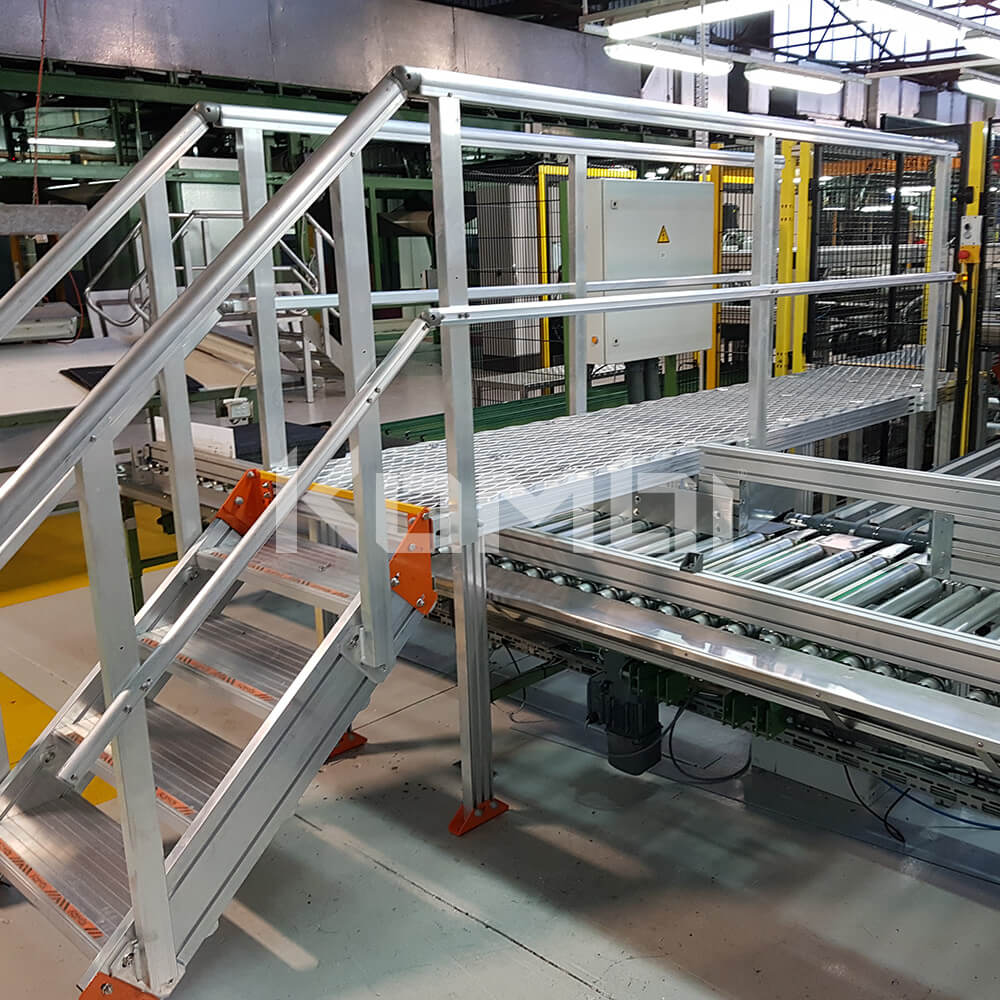 Image showing Kombi stairs and elevated walkways across conveyor belt system - click to download