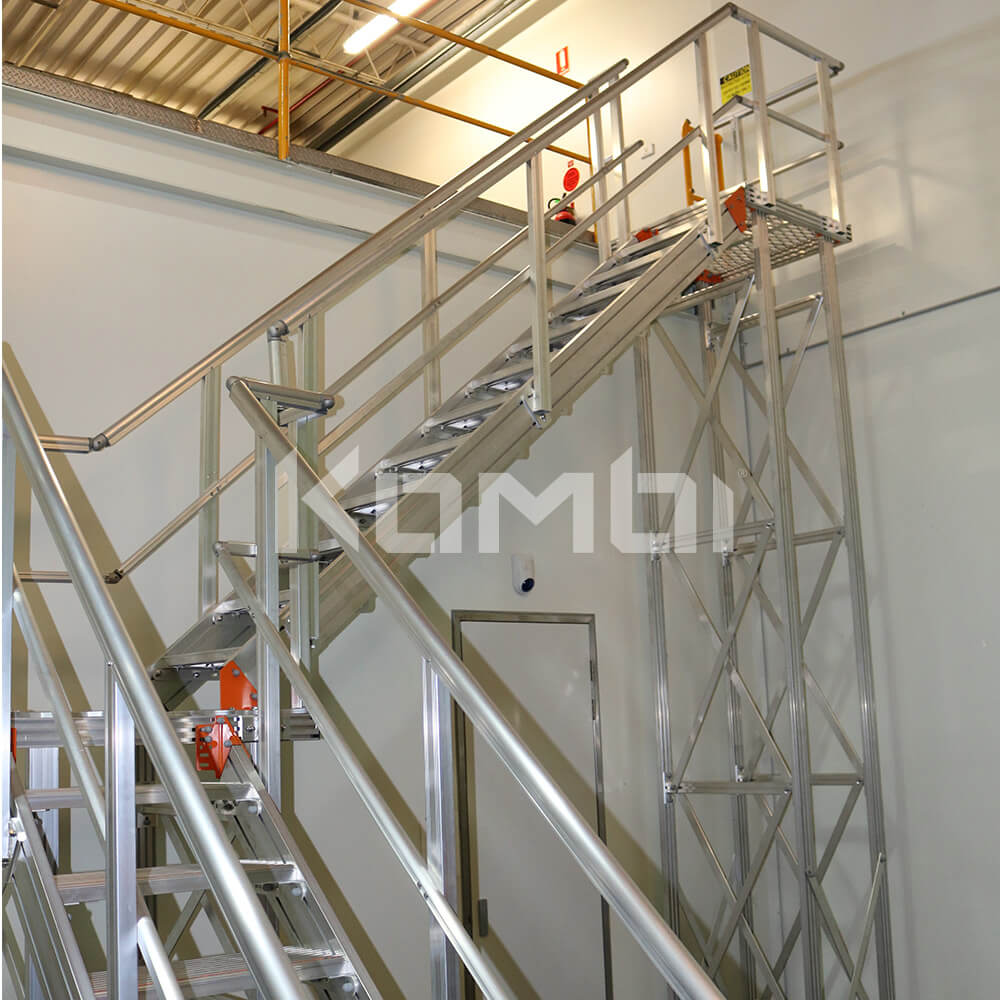 Image showing Kombi 2 stage stairway providing access to upper level - click to download