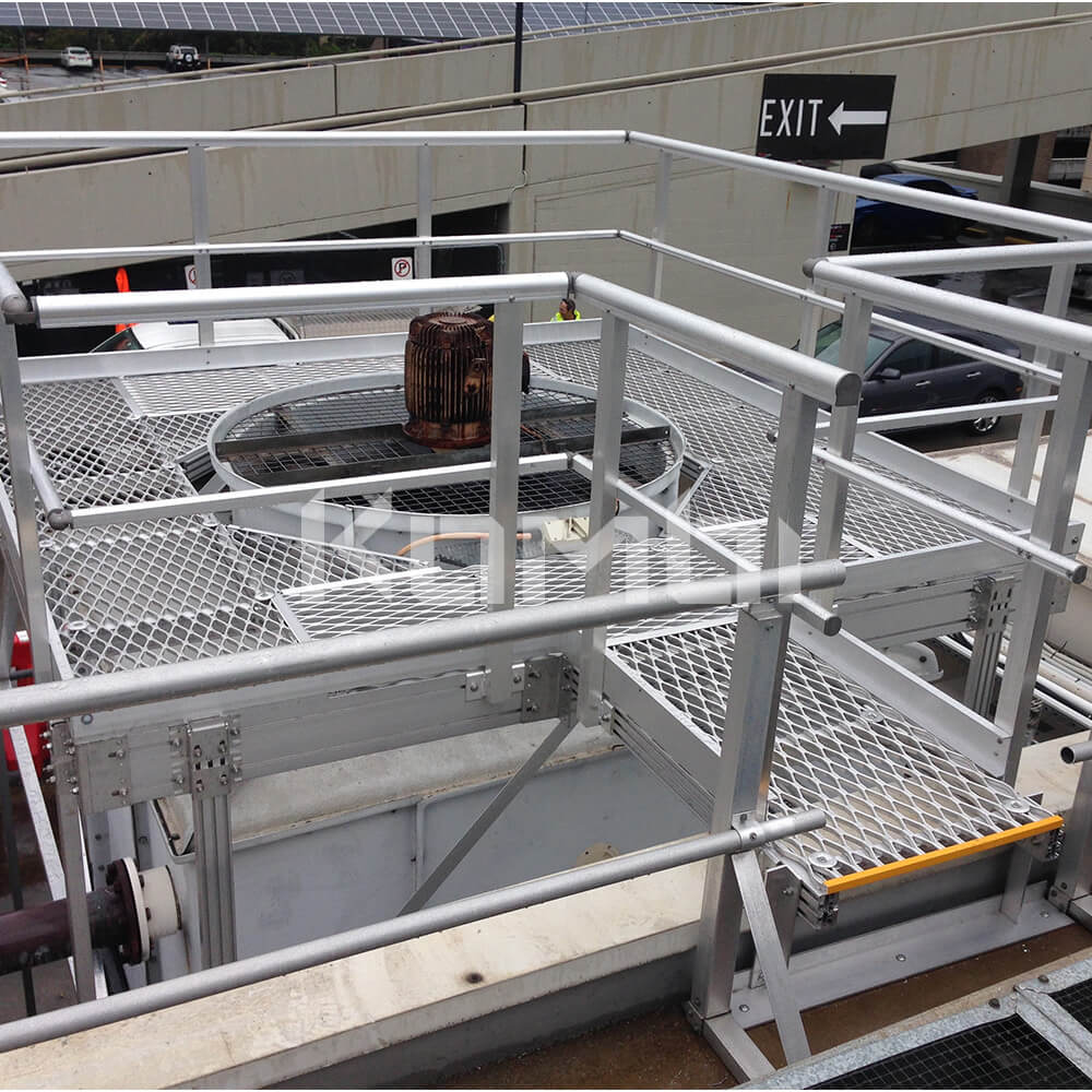 Image of Kombi elevated walkway over cooling tower - click to download