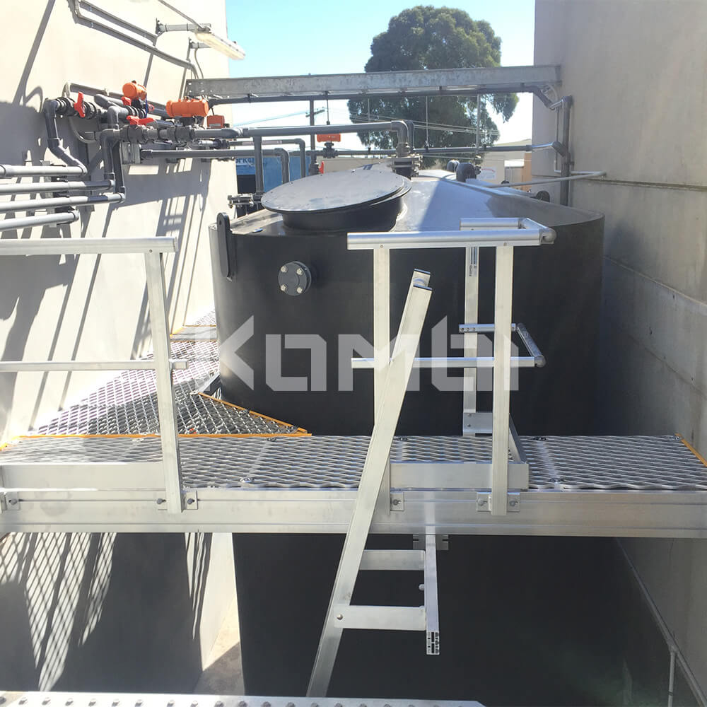 Image showing Kombi elevated walkway providing access around cooling towers - click to download