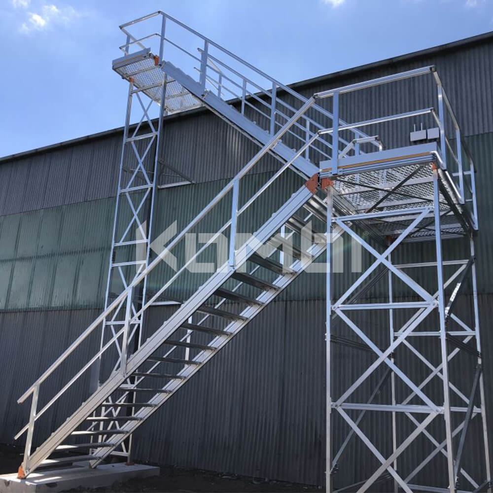 Image showing Kombi 2-Stage stairs and platform system providing roof top access - click to download