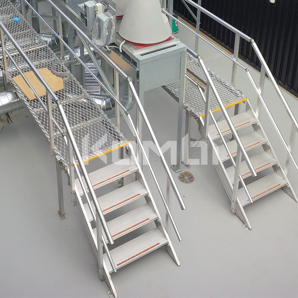 Image showing Kombi light weight stairs, platforms and elevated walkways next to machinery - click to download
