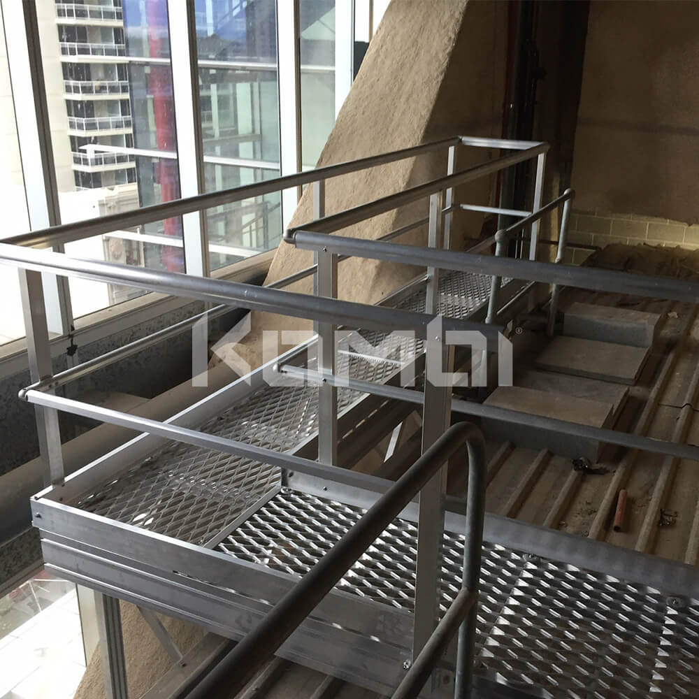 Image showing Kombi aluminium elevated walkway across roof space - click to download