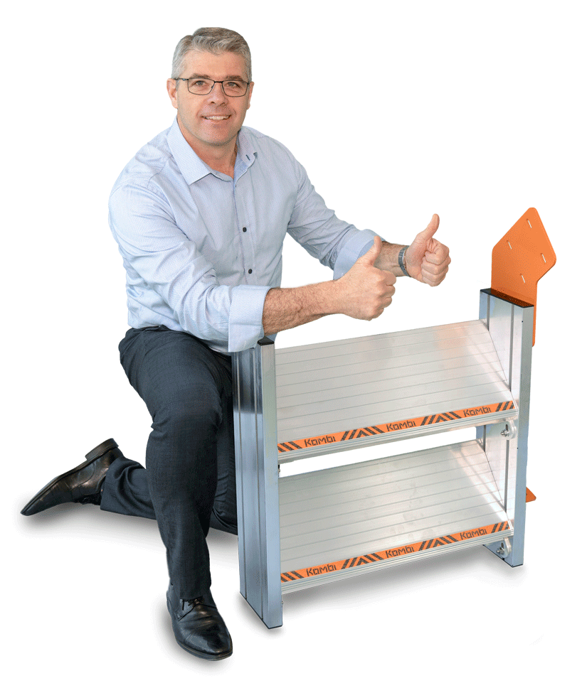 Image of man with Kombi stair