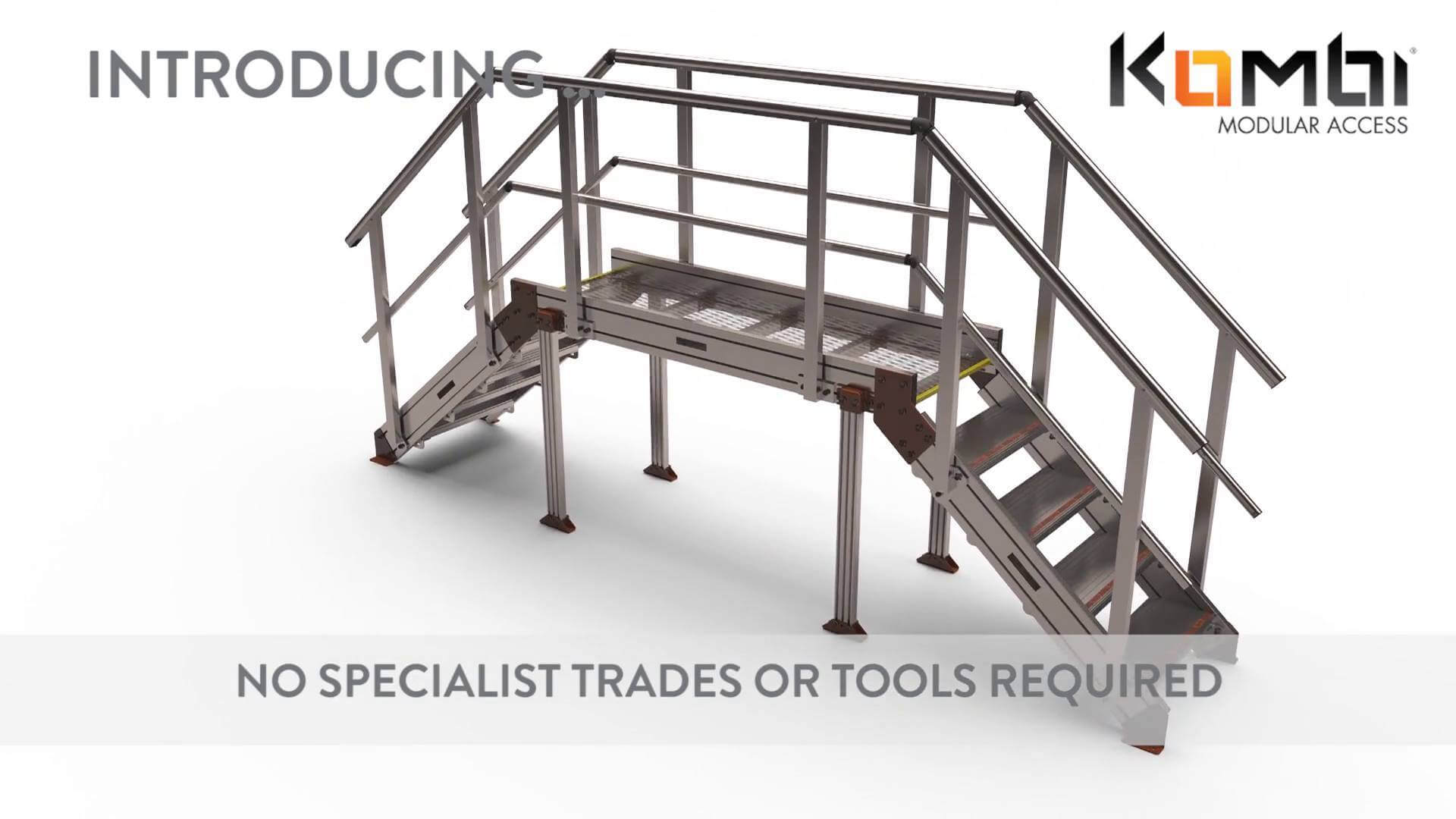 Overview video of Kombi stair and platform system in operation