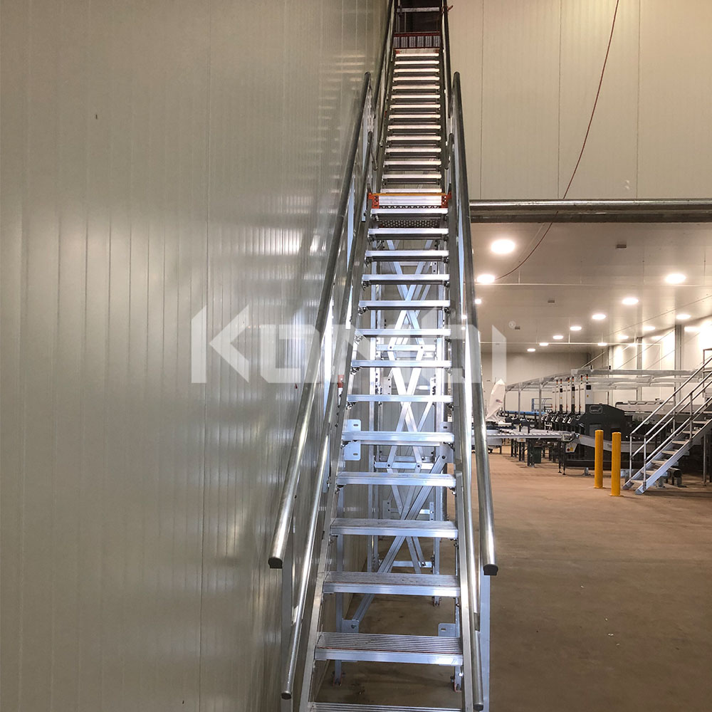Kombi modular aluminium access stair and access platform systems install at Avocado Farm