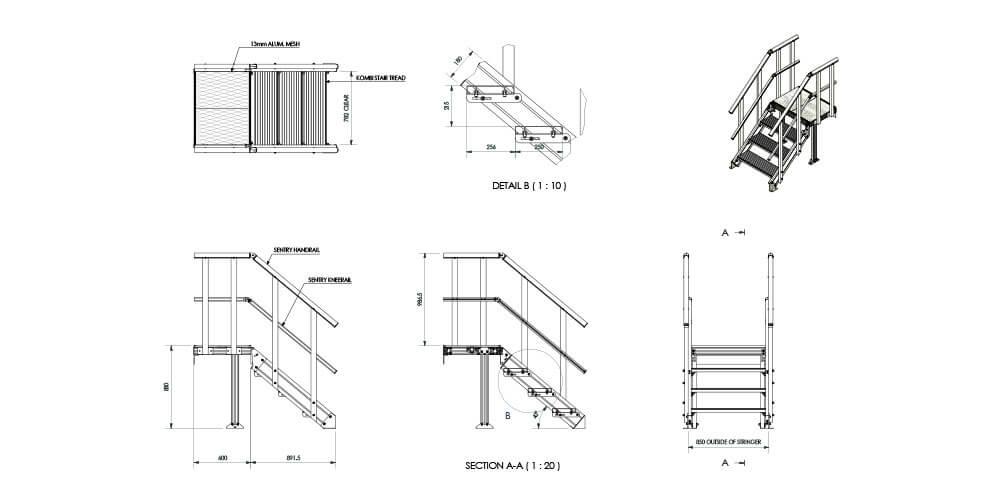 Kombi modular stair and platform systems installed at Flinders Street Station