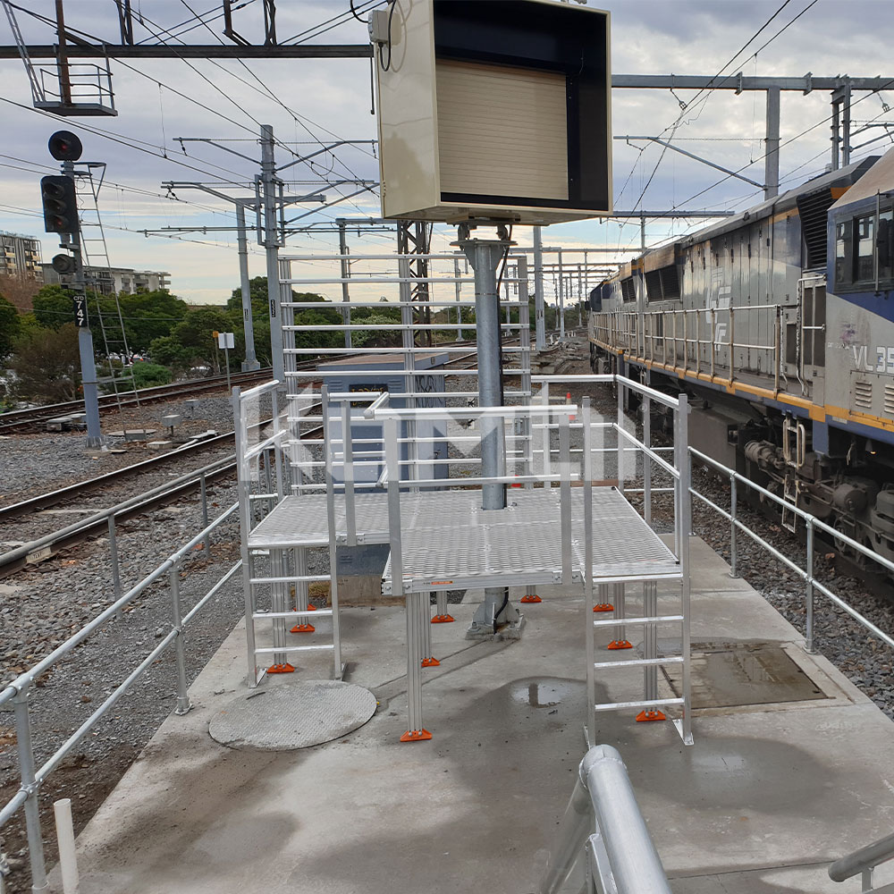 Kombi modular stair and platform systems install at Caulfield Railway Station