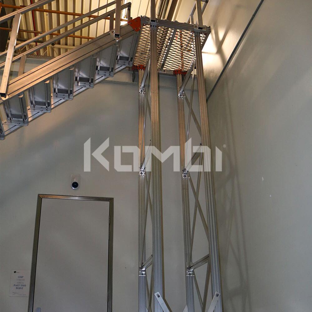 Kombi modular stair and platform systems install at Glaxo Smith Kline