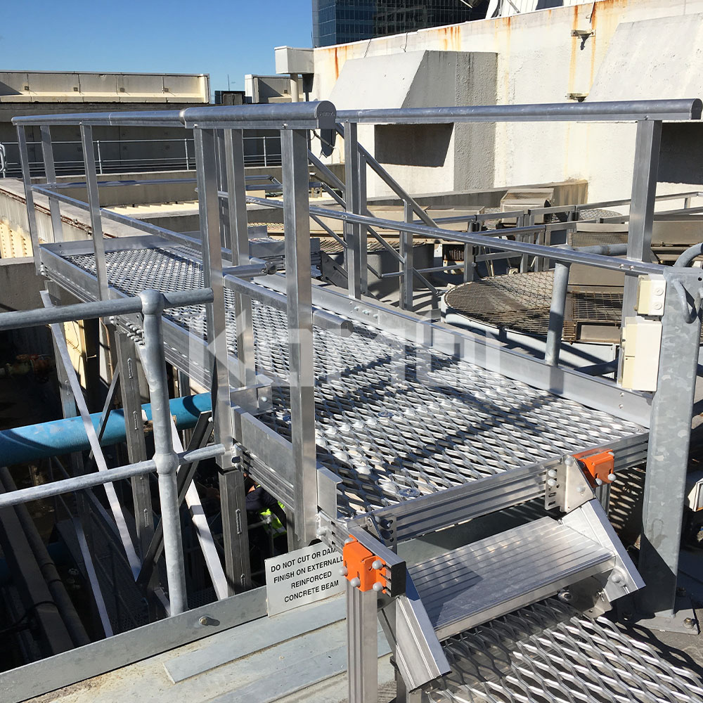 Kombi modular stair, crossover and platform systems install at Mirvac Property Group