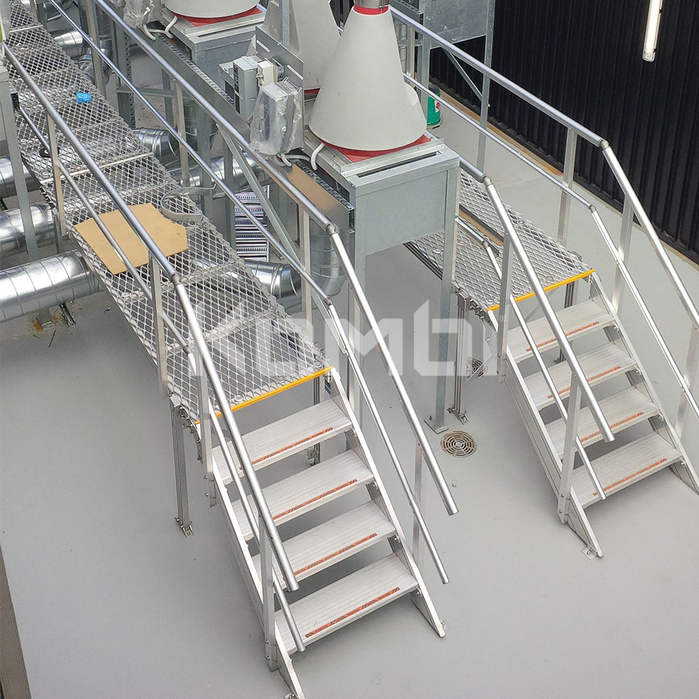 Kombi modular stair and platform systems install at Victorian Comprehensive Cancer Centre