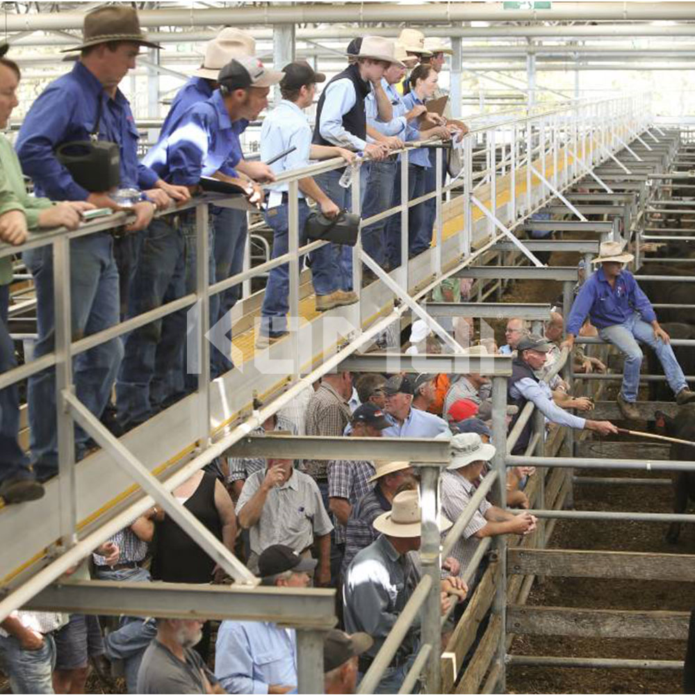 Kombi modular stair and platform systems install at Wangaratta Saleyards