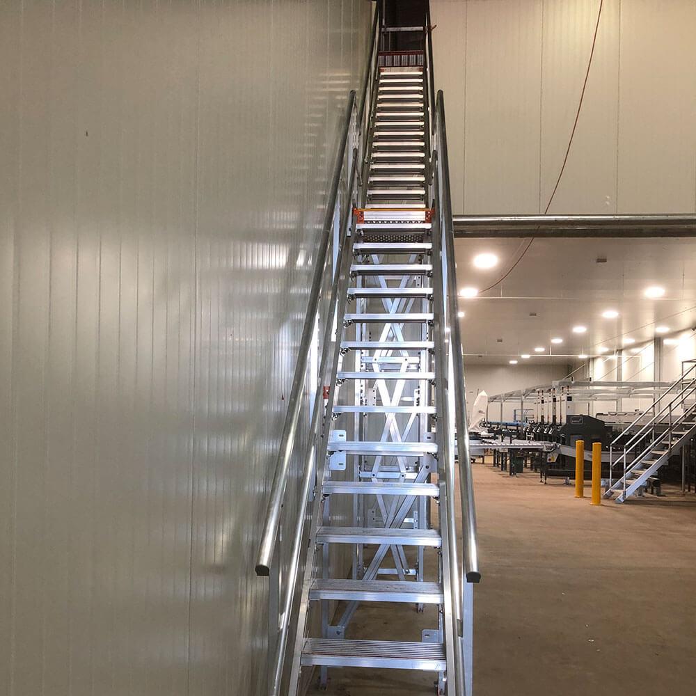 Kombi modular stair and platform systems install at Avocado Farm