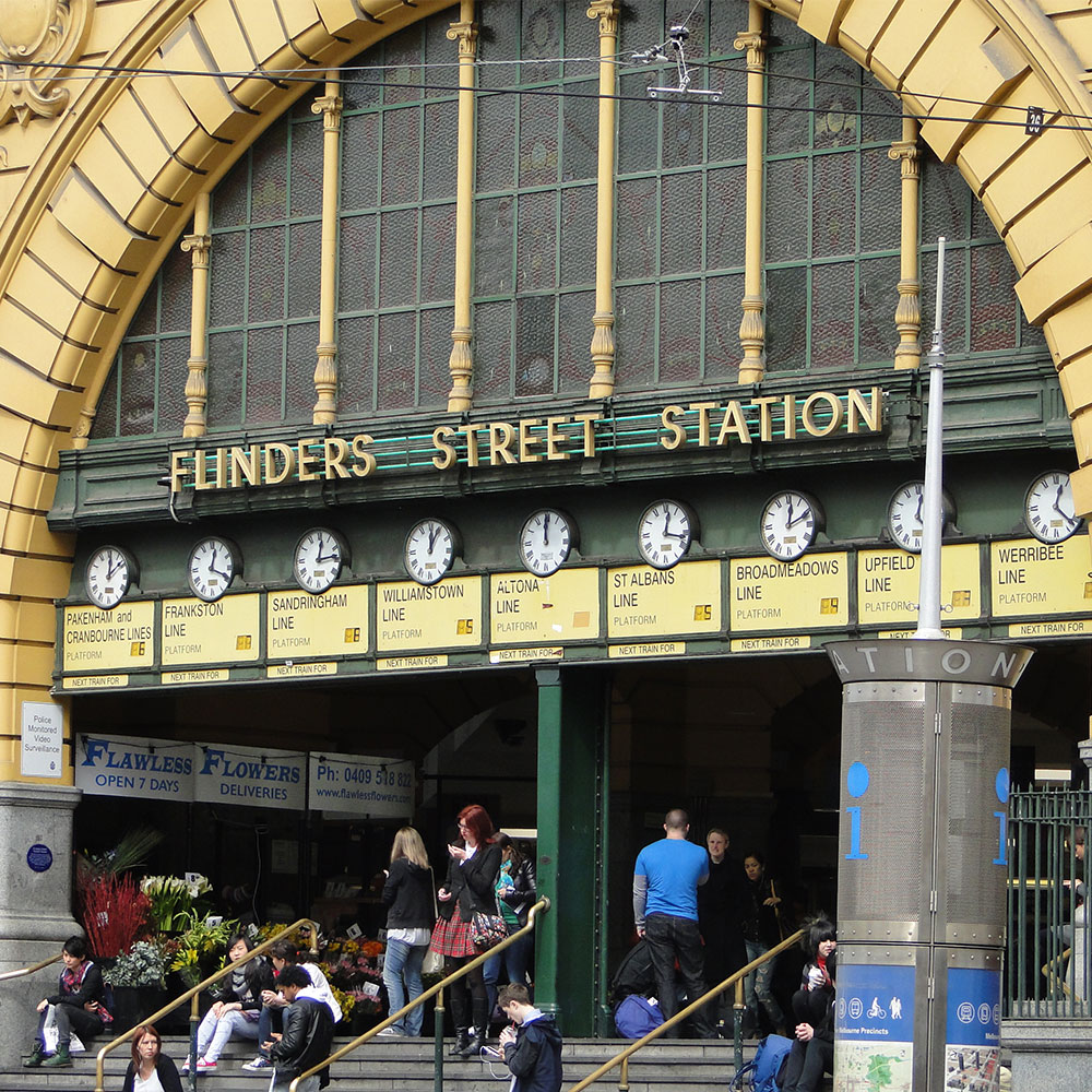 Kombi modular stair and platform systems install at Flinders Street Station
