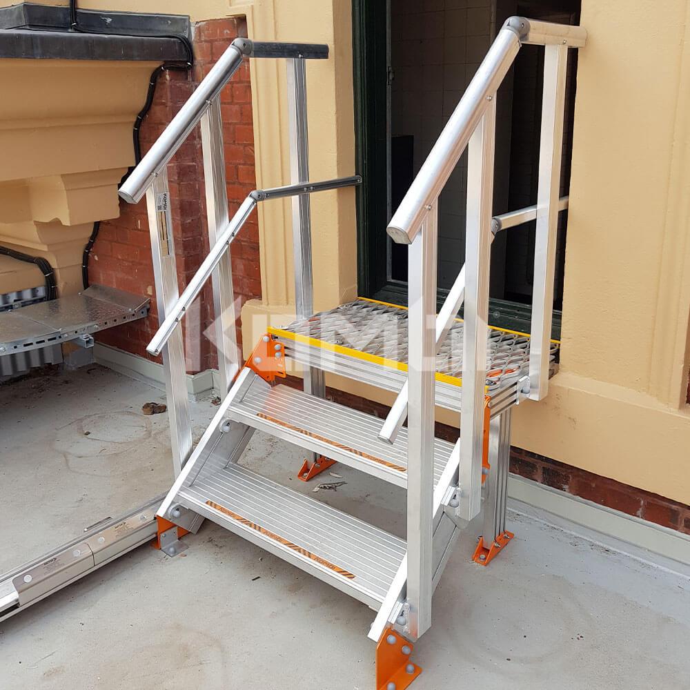 Kombi modular stair and platform systems install at Flinders Street Station