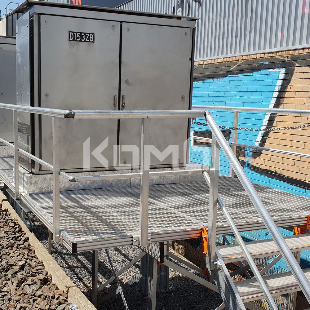 Kombi modular stair and platform systems install at Sandringham Line