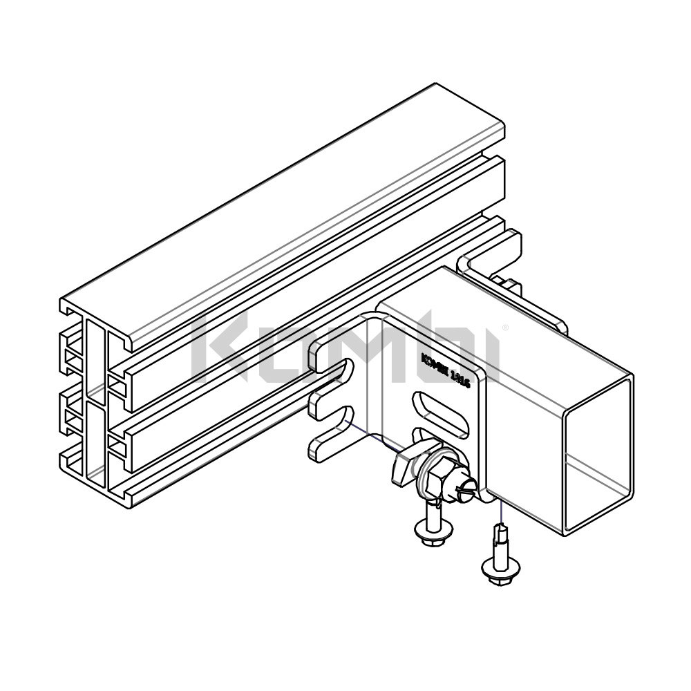 Kombi stair and access platform component