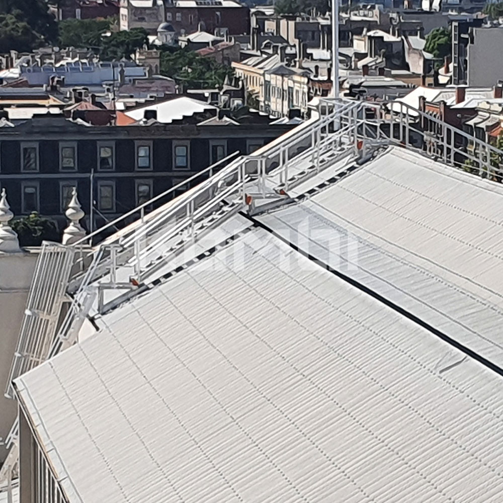 Kombi access stair and platform system installed at Royal Exhibition Buildings
