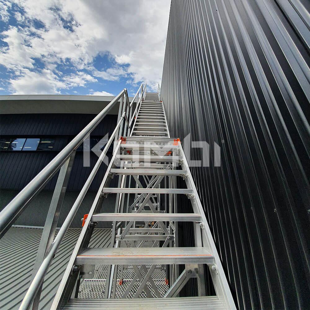 Kombi modular aluminium access stair and access platform systems for safe access
