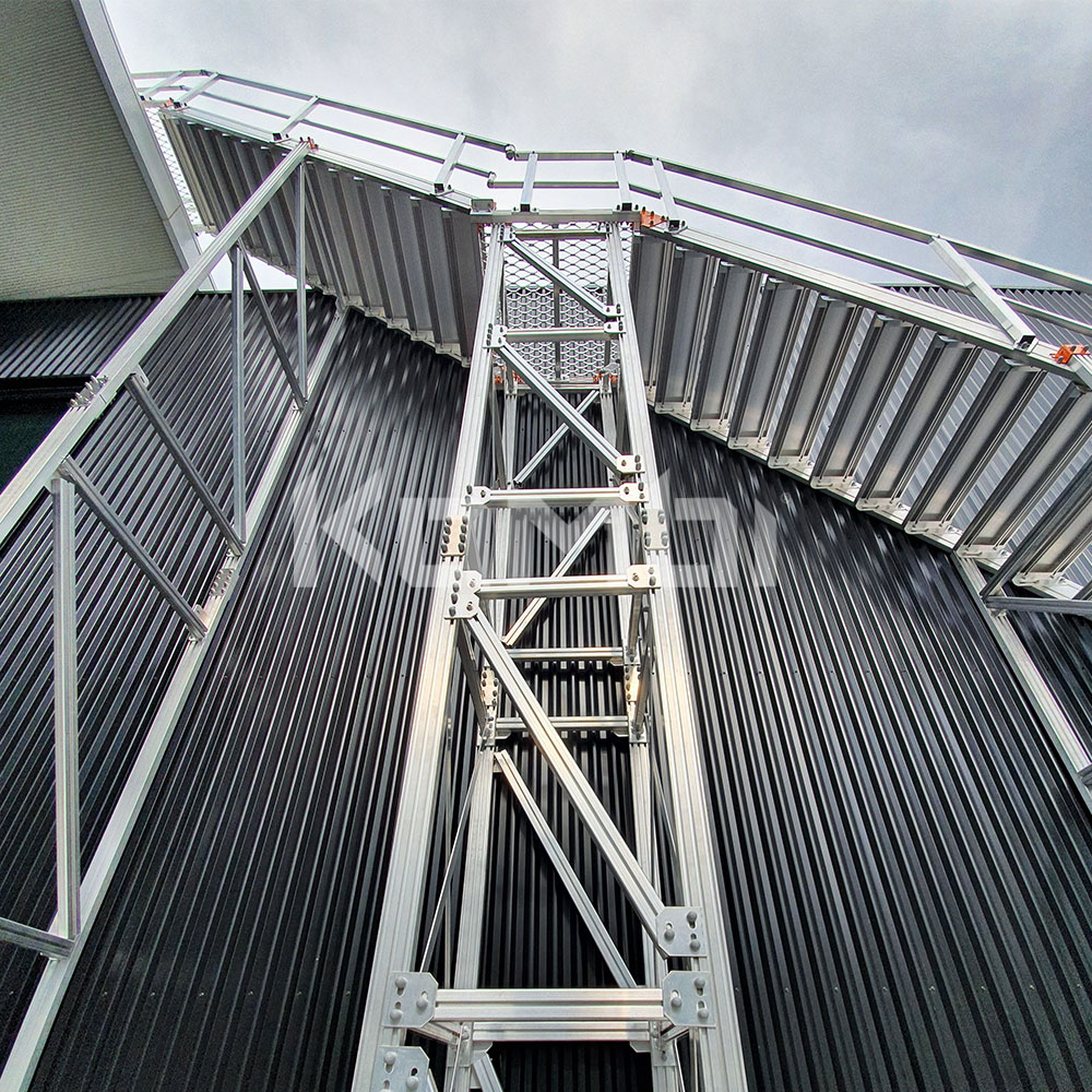 Kombi aluminium modular access stair and access platform systems for safe access