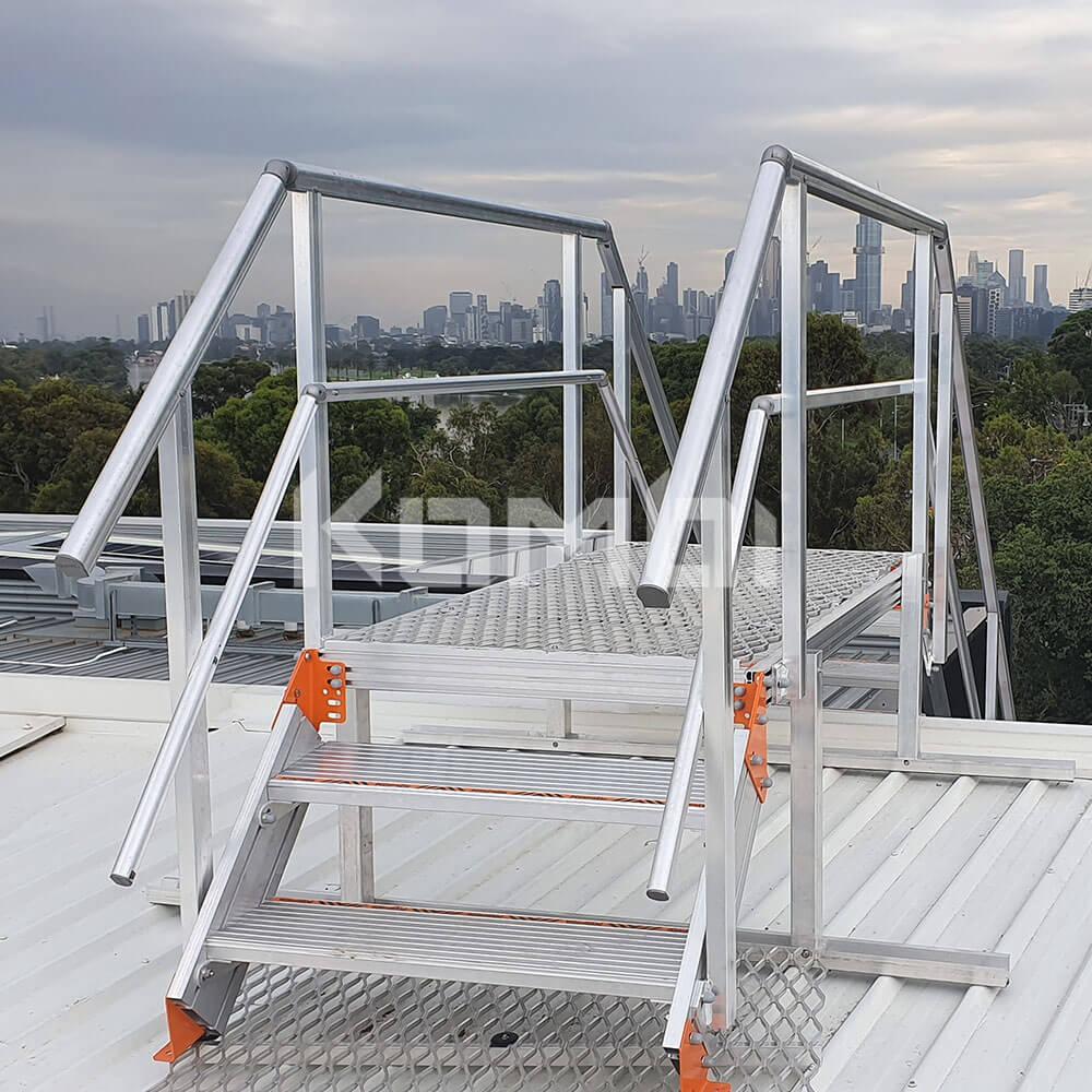 Kombi modular aluminium stair and platform systems for safe access